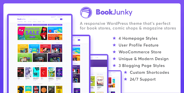 BookJunky - WooCommerce Book Store for WordPress