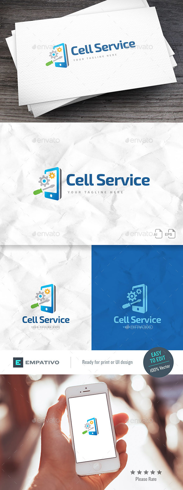 Cell Service Logo Template