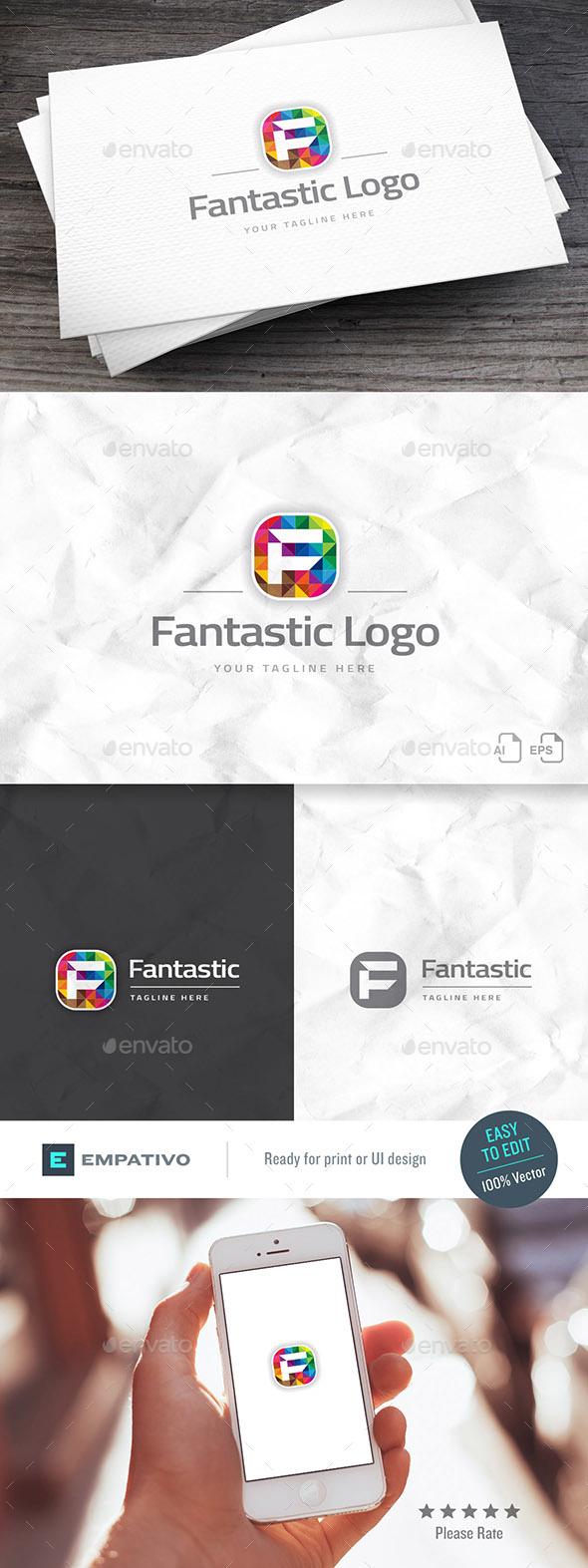 Fantastic Brand Letter F Logo Template