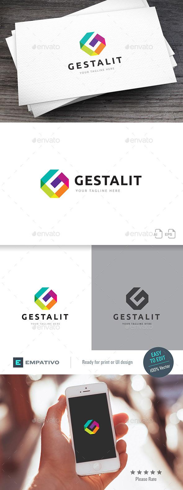 Gestalit Letter G Logo Template