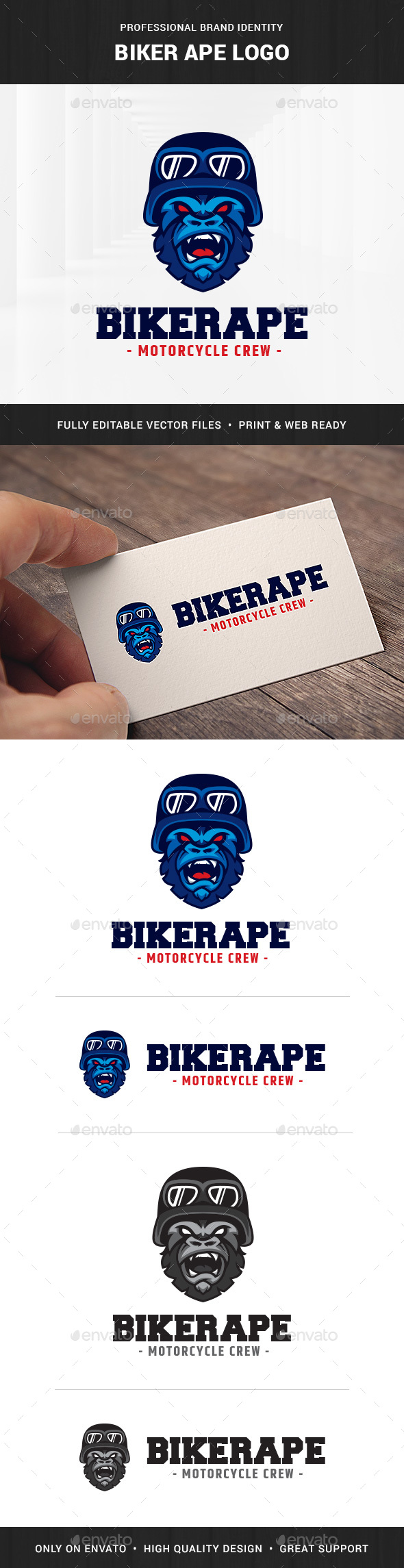 Biker Ape Logo Template