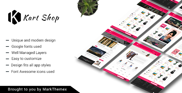 Kart Multipurpose Ecommerce PSD Template