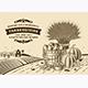 Vintage Thanksgiving Landscape Brown - GraphicRiver Item for Sale