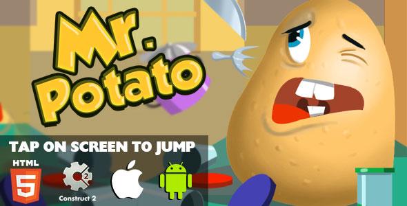 Mr. Potato - HTML5 Game (CAPX) Download