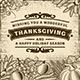 Thanksgiving Vintage Brown Card - GraphicRiver Item for Sale