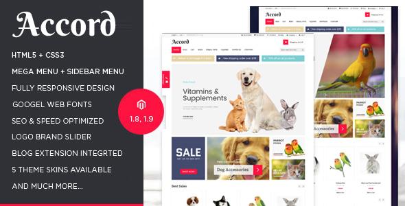 Accord - Pet Store Responsive Magento Theme