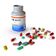 Medical Pill, Capsule, Tablet with the Bottle - 3DOcean Item for Sale