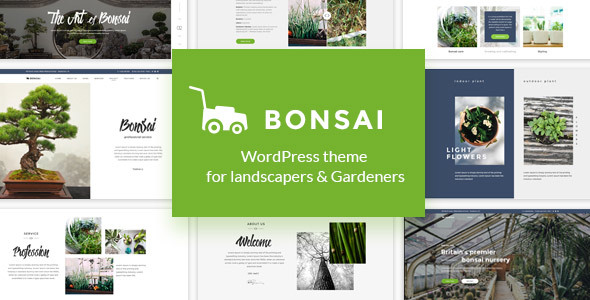 Bonsai - WP Theme for Landscapers & Gardeners