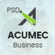 Acumec - Business Multipurpose PSD Template - ThemeForest Item for Sale