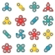 Hand Fidget Spinner Toy Vector Colorful Icon Set - GraphicRiver Item for Sale