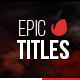 Epic Titles For Final Cut Pro X - VideoHive Item for Sale
