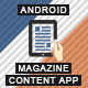 Magazine Content App With CMS - Android [ AdMob | Push Notifications | Offline Storage ] - CodeCanyon Item for Sale