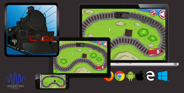 TrainGenerationVS - HTML5 Train Race Game