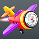 Cartoon jet  airplane - 3DOcean Item for Sale