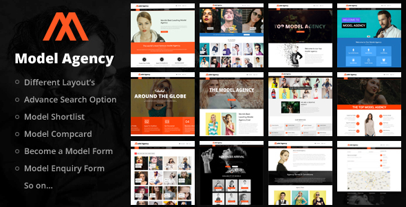 Models - Fashion Agency WordPress Theme