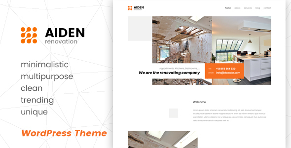 Aiden - Minimalistic Multipurpose WordPress Theme