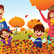 Family Celebrates Autumn Season Outdoors - GraphicRiver Item for Sale