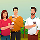 People Drinking Wine at Winery - GraphicRiver Item for Sale