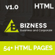 bizness - Business and Corporate HTML5 Template - ThemeForest Item for Sale
