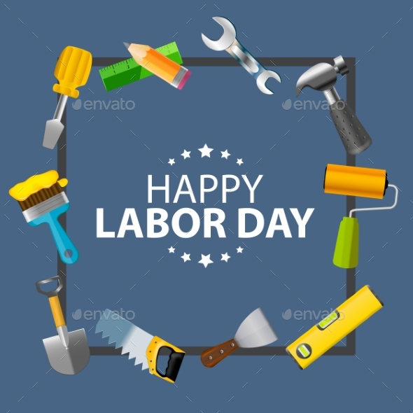 Happy Labor Day Poster Vector Illustration