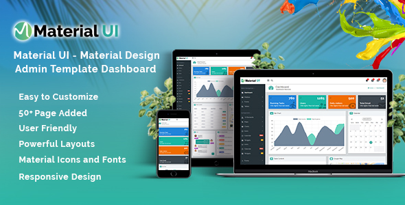 Material UI Templates from ThemeForest