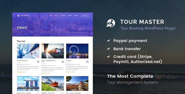 Tour Master - Tour Booking, Travel WordPress Plugin Download