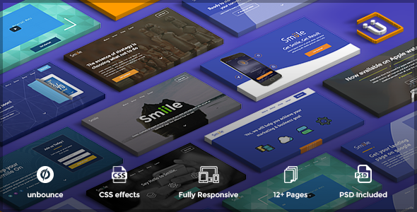 Smiile - multipurpose unbounce pack template