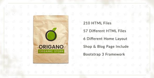 Origano - Organic Store HTML Template