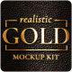 Gold Mockup Kit - Glossy Logo & Titles - VideoHive Item for Sale