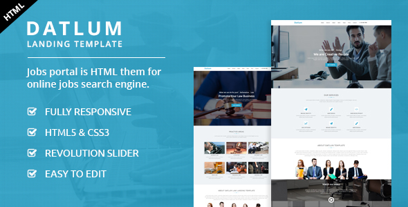 Datlum - Multipurpose Landing Page