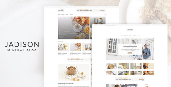 Jadison -Clean And Minimal WordPress Blog Theme 2