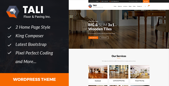 Tali - Paving Service WordPress theme