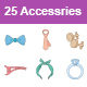 Accessories Color vector icons - GraphicRiver Item for Sale