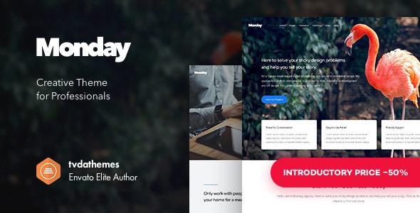 Monday - Creative Multi-Purpose WordPress Theme
