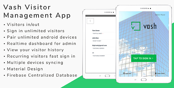 Vash 2.0 - Visitor Management Android App