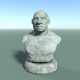 Low Poly Neanderthal Bust - 3DOcean Item for Sale