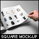 Square Magazine Mock-Up - GraphicRiver Item for Sale