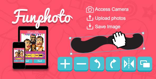 Funphoto (aplikacja naklejek) HTML5 Canvas