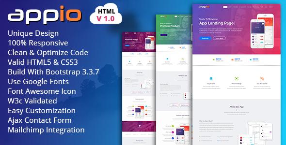APPIO | App Landing Page HTML Template