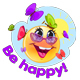 Happy Cartoon Smileys and Stickers Set - GraphicRiver Item for Sale