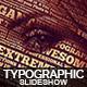 Typographic Slideshow - VideoHive Item for Sale