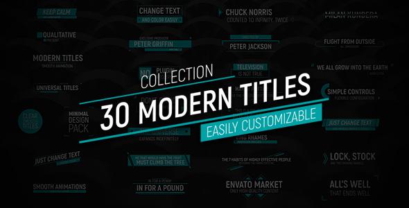 30 Modern Titles