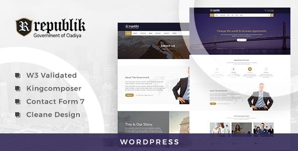 Republik - Government and Municipal Portal WordPress Theme