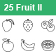 Fruit II outlines vector icons - GraphicRiver Item for Sale
