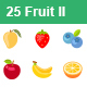 Fruit II color vector icons - GraphicRiver Item for Sale