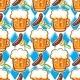 Oktoberfest Beer Seamless Pattern - GraphicRiver Item for Sale