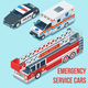 Isometric Emergency Service Cars - GraphicRiver Item for Sale