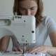 Woman Sews on the Sewing Machine - VideoHive Item for Sale