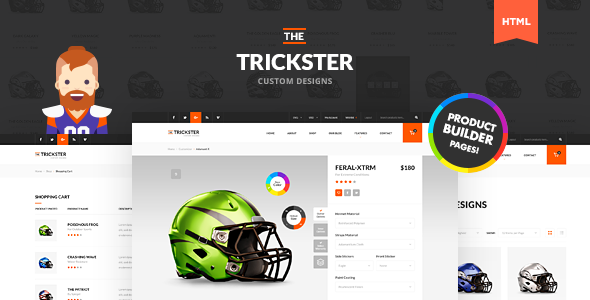 The Trickster - Multipurpose HTML Product Builder and Shop