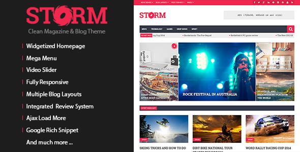 Storm - Clean Magazine & Blog Theme